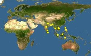 Карта обитания Рыбы-Ползуна